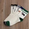 1 Pair New Series White Women Men's Unisex Cotton Husky Pugs 5 Style Faithful Dog Embroidery Happy Winter Warm Socks Funny Socks - Dailytechstudios