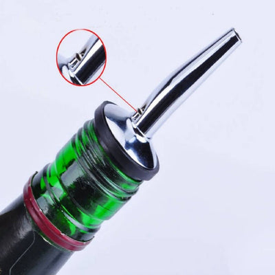 1 Pcs stainless steel bottle stopper bar supplies wine bottle spout high quality Stainless steel nozzles with rubber beer - Dailytechstudios