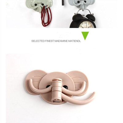 1PCS Lovely Mini Sucking Hooks Home Office Storage Supplies Cute Elephant Hooks Home Decorative Supplies  UpCube- upcube