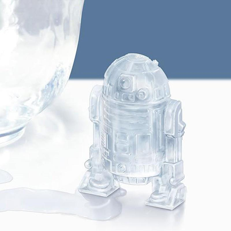 1 Piece Star Wars R2D2 Robot Silicone Ice Cube Tray Chocolate Mold Kitchen Accessories