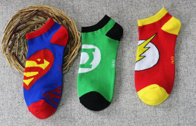 & 36-43 3D Summer Harajuku Socks Hip Hop Ninja Batman Superman SpiderMan Captain America Avengers Short Novelty Sokken - Dailytechstudios