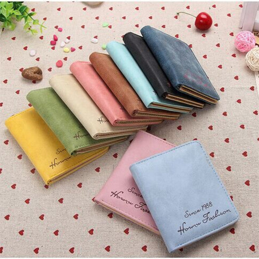(1pcs) Wallets and Purses Women Leather Genuine Small Famous Brand for Credit Cards Cards Holder Clutch Fashion Standard Wallet