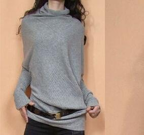 2014 New High -Quality Women's Fashion Shoulder Asymmetrical sweater Collapse Loose Pullover Sweaters  dailytechstudios- upcube