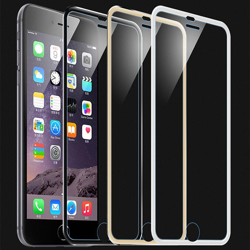 3D Aluminum alloy Tempered Glass Case Coque for iphone 8 6 6s 7 Plus X Full Film Fundas For 5 5s se 5C Case  upcubeshop- upcube