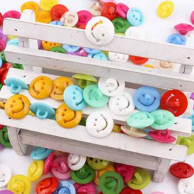 100pcs/50pcs Monopoly cartoon smiley buttons baby face child buckle accessories wholesale 15mm sewing supplies  UpCube- upcube