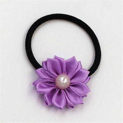 1pcs Hot Sale 2018 New Cute Pearl flower Elastics Hair Holders Bands Fashion Candy Rubber Bands Headwear Girl Hair Accessories  UpCube- upcube
