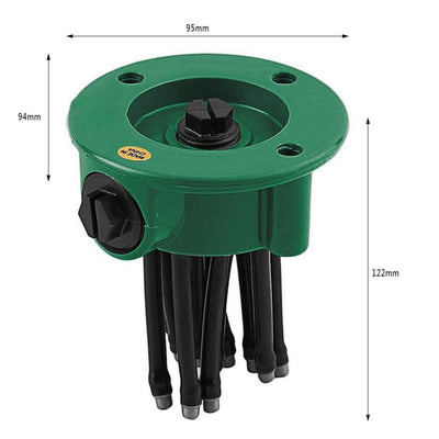 1PC 360 Degree Rotating Sprinkler Noodle Head Water Sprinkler Garden Watering Sprinkler for Garden Irrigation Roof Cooling  UpCube- upcube