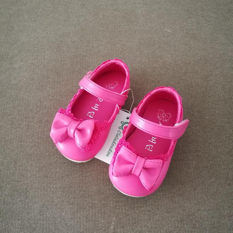 0-4 Years Old Girls Shoes Infant Pink Bow Pu Leather Baby Shoes White Toddler Girl Shoes For Birthday Party Kids Girl Dress Flat