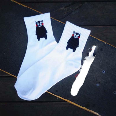1pair Women and Men Socks Funny Cactus Cat Pattern Lovers Sox Harajuku Casual Socks Fashion Couples Socks NQ985660