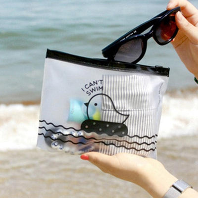 1 pcs Cute Chicken Semi-Transparent PVC Travel Make Up Cosmetic Storage Bags Pencil Case Bag Home Office Storage Pen Holders - Dailytechstudios