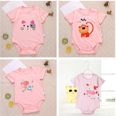 1 Pcs Random 0-15 Year Old Baby Rompers Newborn Baby Boy Girls Clothes Short Sleeve Baby Clothing Body Bebes Next Jumpsuit - Dailytechstudios