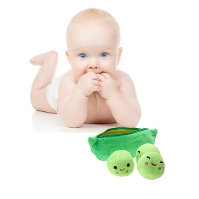 1 pcs 25CM Kids Baby Plush Toys For Children Cute Pea Stuffed Plant Doll Girlfriend Gift High Quality Stuffed & Plush Animals - Dailytechstudios