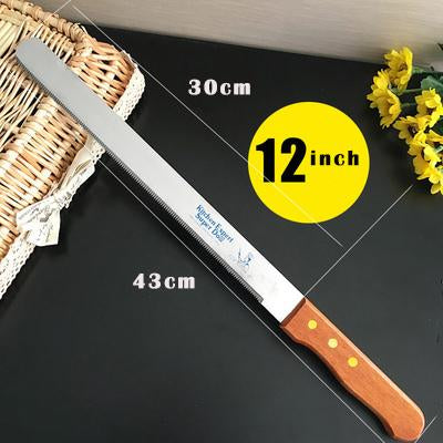 1Pcs Kitchen 10 12inch Kitchen Chef Serrated Toast Bread Cake Wood Table Knife Cutter Silcer Serrated Fruit Vegetable Carving  UpCube- upcube