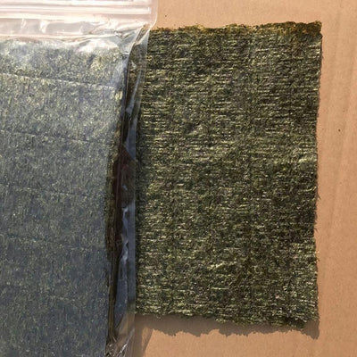 100PCS / set of high quality sushi seaweed, Japanese seaweed sushi dry green food, hot sushi kelp snacks wholesale free shipping  UpCube- upcube
