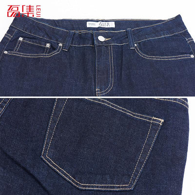 8df24f42655 Leiji New Autumn Women Plus Size Jeans 40-120KG Available Boy Friend Full  Length Mid