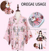 """Onegai Usagi"" Praying Rabbit Women's Japanese Kimono Style Kawaii Blossom Bunny Trench Cute Lolita Loose Outwear 5Colors - Dailytechstudios"