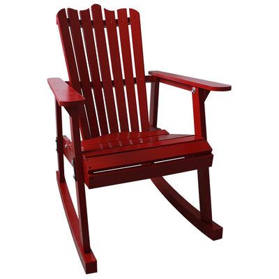 Outdoor Furniture Garden Rocking Chair Wood 4 Colors American Country Style  Antique Vintage Adult Recliner Rocking