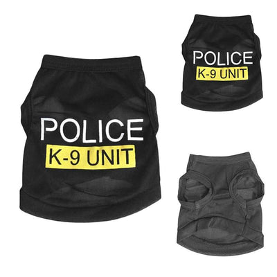 """Police "" Unisex Pet Clothes Puppy Dog Cat Vest T Shirt Apparel Clothing - Dailytechstudios"