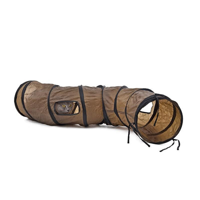 """S""Funny Pet Tunnel Cat Play Tunnel  Brown Foldable 1 Holes Cat Tunnel Kitten Cat Toy Bulk Cat Toys Rabbit Play Tunnel - Dailytechstudios"