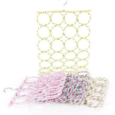 1PC 28 Circles Random Color Scarf Hanger Display Ties Belt Shalf Storage Hook Holder Cane Alloy 73cmx36.5cm 8cm  UpCube- upcube