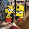 WISONDA The Simpsons Cartoons Anime Phone Case For iPhone X 6 6S 7 8 Plus Hot fashion New soft silicon back cover case shell