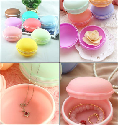1PCS Plastic New Hot Fashion Sweet Macarons Jewelry Storage Box Candy Color Earring Necklace Hairpin Zakka Organizer  UpCube- upcube