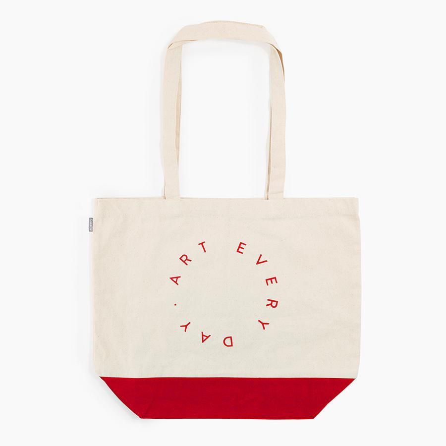 #10608 - Art Every Day Tote in Red - Dailytechstudios