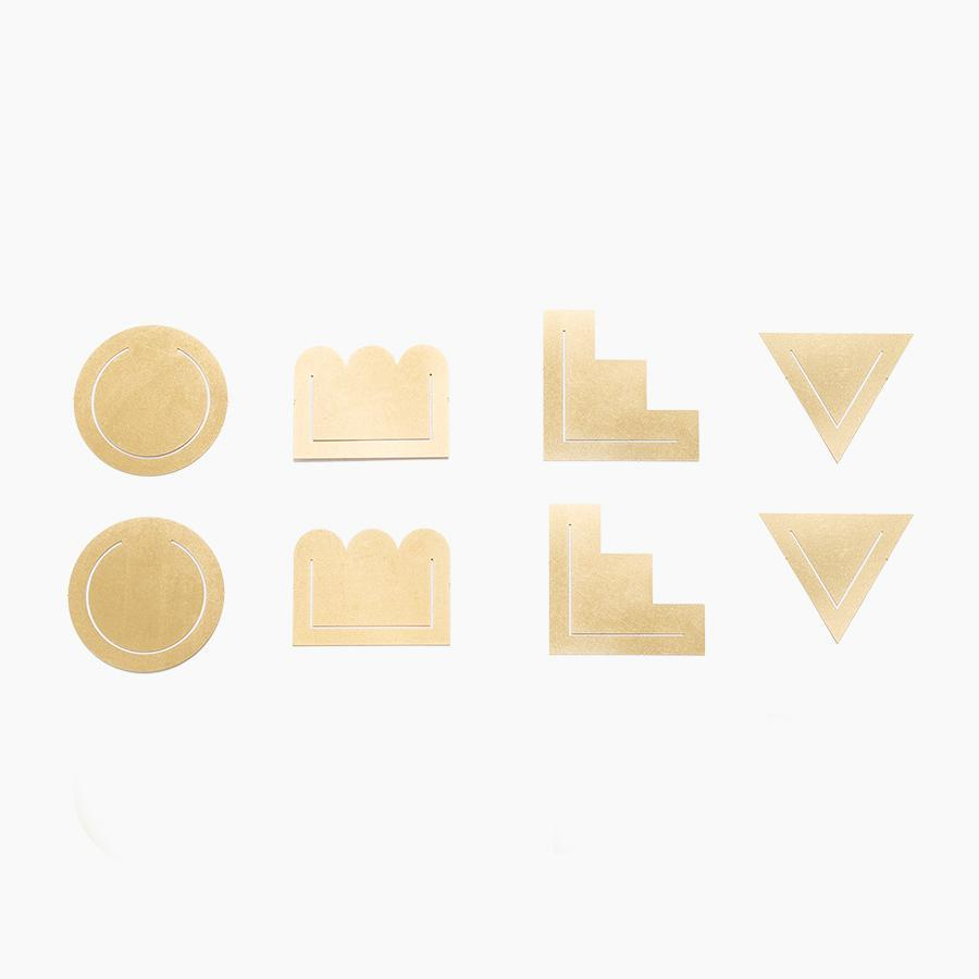 #10161 Brass Clips Set of 8 - Dailytechstudios