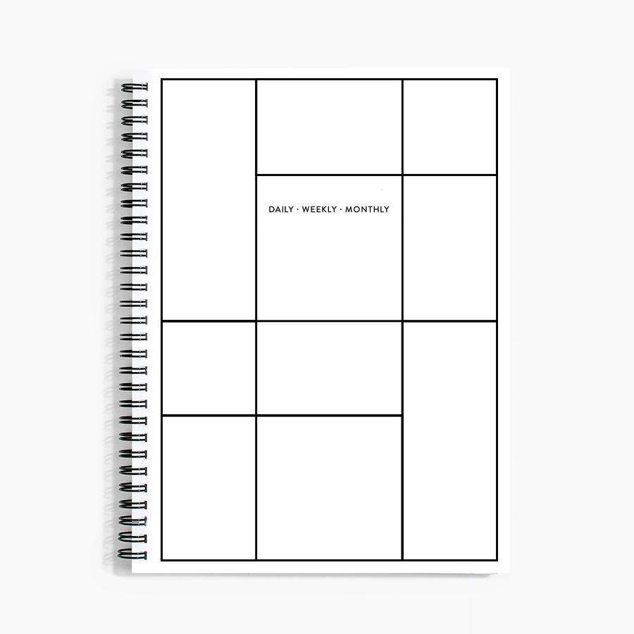 #10523 Daily Weekly Monthly Planner in Linework - Dailytechstudios