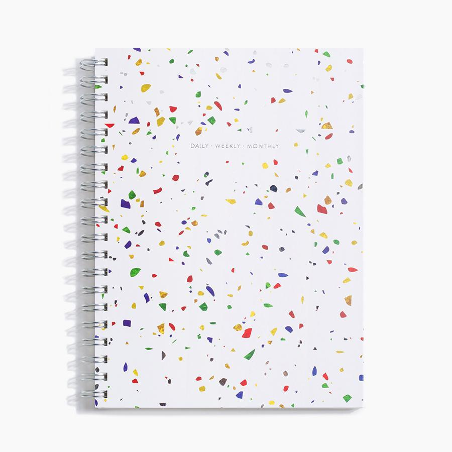 #10031 Daily Weekly Monthly Planner in Terrazzo - Dailytechstudios