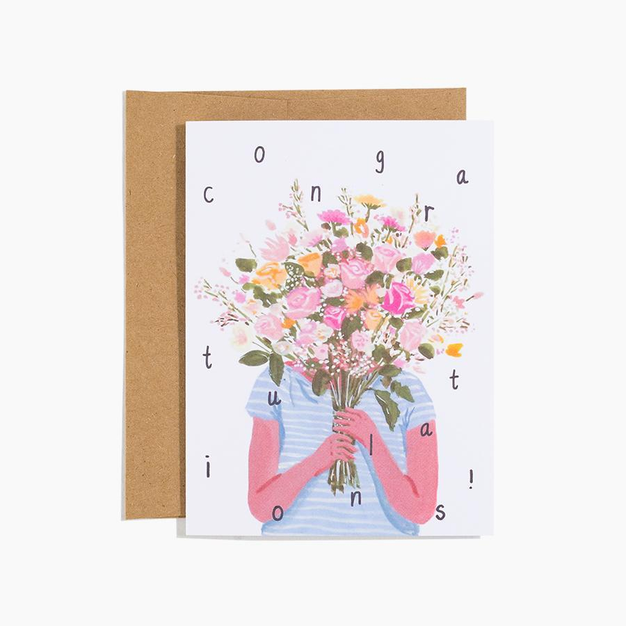 #10165 Congrats Bouquet Card - Dailytechstudios