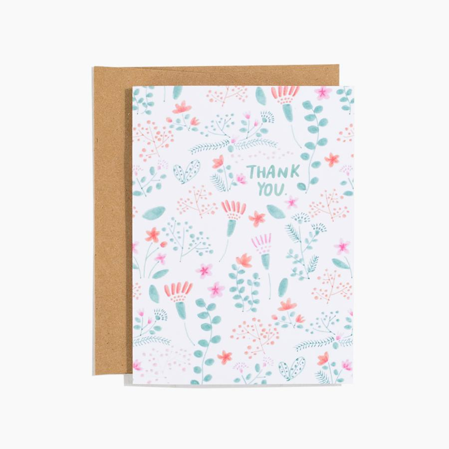 #10169 Floral Thank You Card - Dailytechstudios