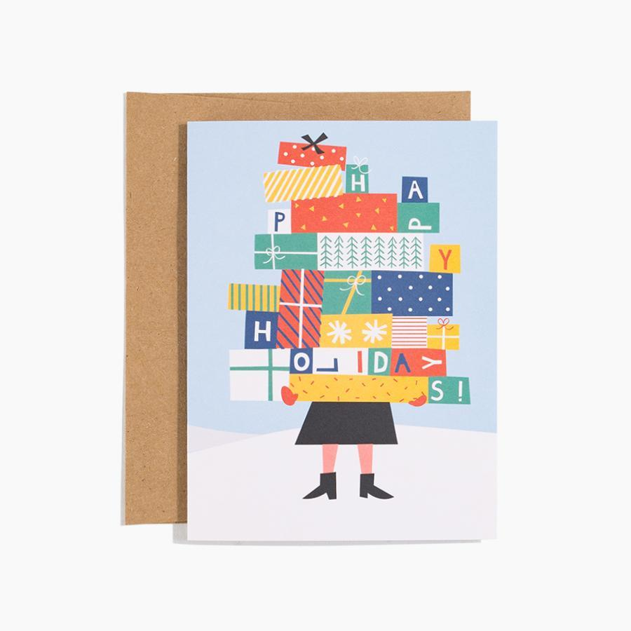 #10140 Stacked Presents Holiday Card - Dailytechstudios