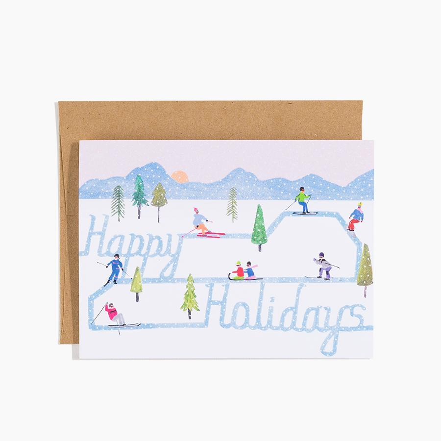 #10178 Skiing Holiday Card - Dailytechstudios