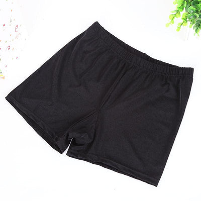 lady large size XL short women black white shine shorts summer fitted activewear capris slim bottom
