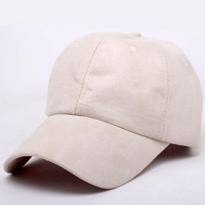 """metting joura""Pure color faux suede baseball cap can be adjusted Men's and women's leisure  hats accessories - Dailytechstudios"