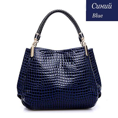 2015 Alligator Leather Women Handbag Bolsas De Couro Fashion Famous Brands Shoulder Bag Black Bag Ladies Bolsas Femininas Sac  dailytechstudios- upcube