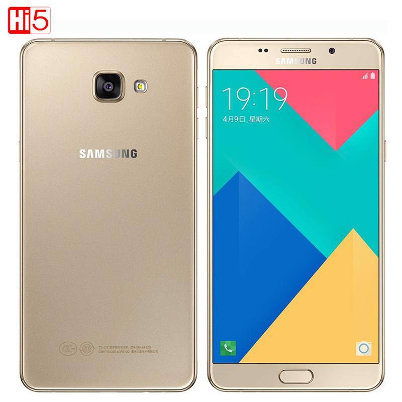 2016 Hot Original Samsung Galaxy A9 A9100 cell phones 6 inches 1920x1080 Pixels 16.0MP Octa core 4GB RAM 32GB ROM dual sim card