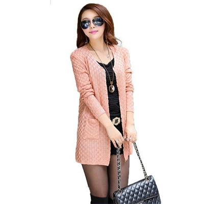 2015 Fashion Women Sweater Long Cardigan Autumn Winter Long Sleeve Thin Knitted Cardigan female Sweaters Free Shipping  dailytechstudios- upcube