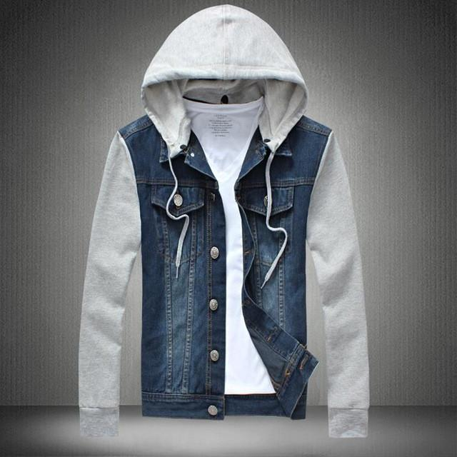 d4f33c955d1 2016 Denim Jacket men hooded sportswear Outdoors Casual fashion Jeans  Jackets Hoodies Cowboy Mens Jacket Coat Plus Size 4XL 5XL Write Review