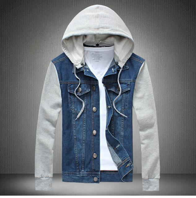 88db533aab9 2016 Denim Jacket men hooded sportswear Outdoors Casual fashion Jeans  Jackets Hoodies Cowboy Mens Jacket Coat