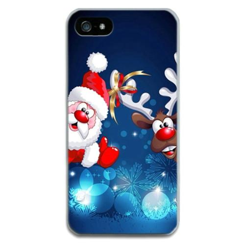 Christmas Deer For Apple Iphone 4 4S 5 5S 5C 6 6S 6Plus 7 7Plus Cases Thin Slim Clear SIde For Iphone Phone Bags Cases