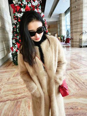 (custom) Korea Plush mink cashmere coat thick mink knitted sweater long paragraph cardigan - Dailytechstudios