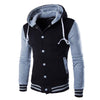 Jamickiki Brand Mens Fashion 2017 Hoodies High Quality Male Sleeve Patchwork Sportswear Sweatshirts W869