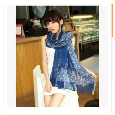 1 pcs Fashion Soft Women Long Print Cotton Scarf Wrap Ladies Long Shawl echarpes foulards femme - Dailytechstudios