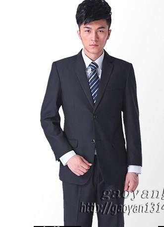 (Jacket + pant + tie) Suit male slim formal groom married men's clothing wear commercial suits men business suits