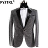(Jacket + Pants) Male Dress Singer Host Men Slim Fit Shiny Film Groom Wedding Suit Show Performances Mens Prom Customized Suits - Dailytechstudios