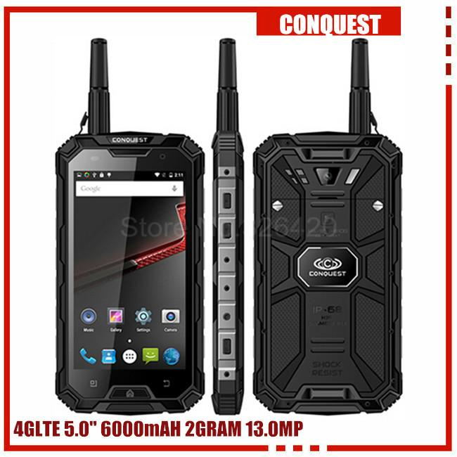 100% Original Conquest S8 3GB RAM 32GB ROM ip68 Rugged waterproof phone 6000mAH Quad Core 5.0Inch GPS 4G LTE FDD PTT S6 runbo q5  dailytechstudios- upcube