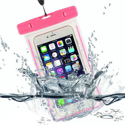 100% Sealed Transparent Waterproof Luminous Pouch Case For iPhone 4S 5 5S 6 6S 7 Plus Samsung Galaxy S6 S7 edge LG G5 Cover Bag