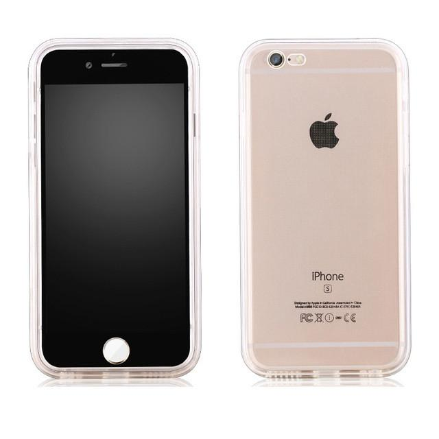 TPU Full body Protective Clear Case for iPhone 6s 6 Plus 5 5s Shockproof Hybrid Rubber Waterproof Soft Silicon Case Back Cover